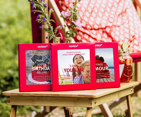 Geschenkboxen von mydays